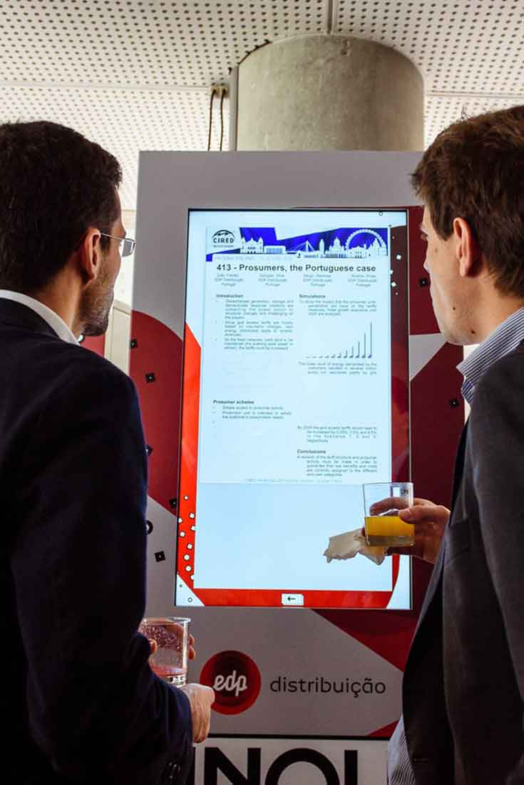 EDP Inovday 17 with Interactive Digital Billboards by PARTTEAM