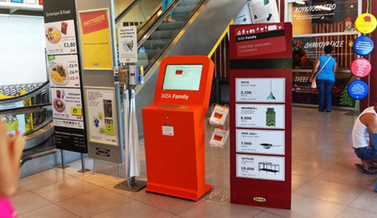IKEA, interactive kiosks for customer registration OEMKIOSKS