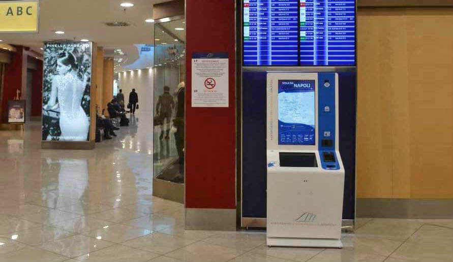 Development and production interactive kiosk for the Internazionale di Napoli Airport OEMKIOSKS