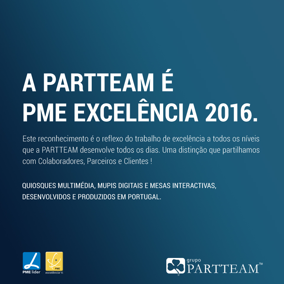 PME Excelencia 2016 PARTTEAM & OEMKIOSKS